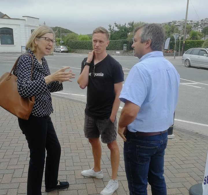 Sarah Newton MP visits Perranporth