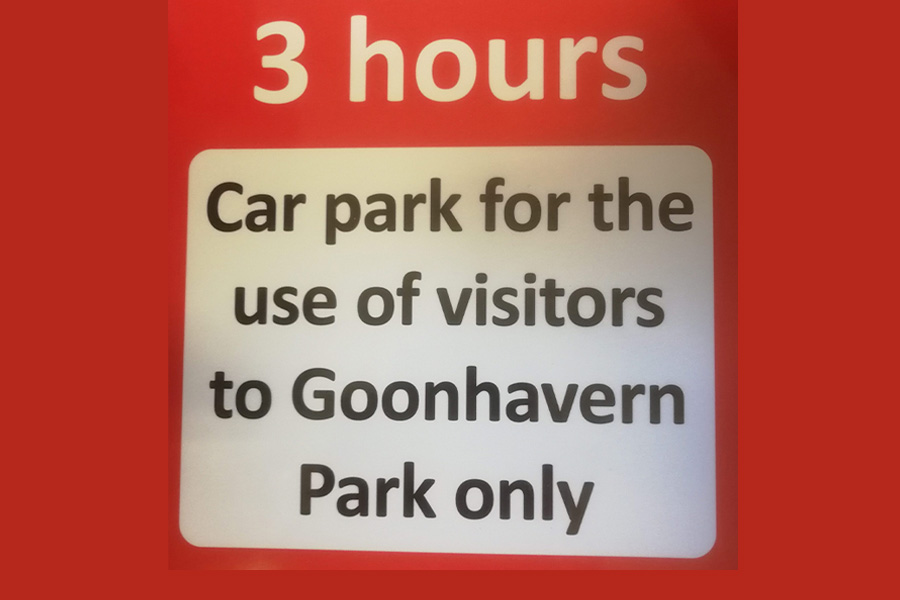 Goonhavern Park car park protected for visitors