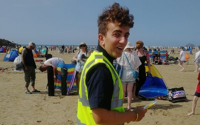 Beach Officer at work