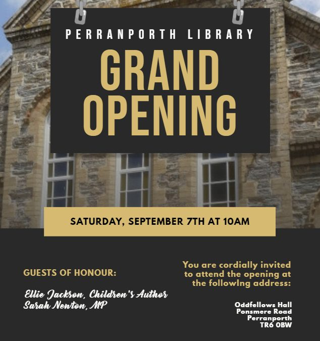 Library Grand Opening – Tomorrow!