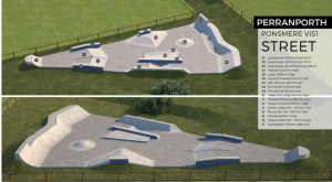 Proposed Skate park street skating facility