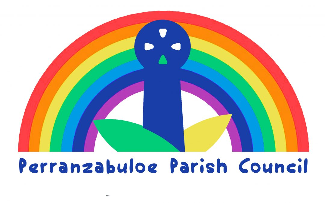 Image Parish Council logo and rainbow