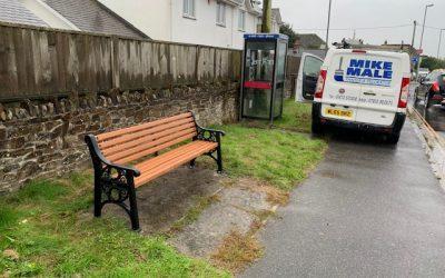 Bench installed – Goonhavern